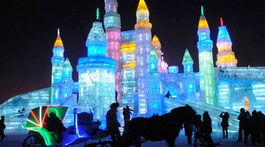 Esculturas hielo en Harbin, China