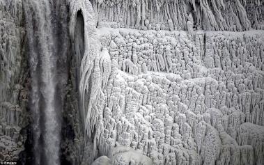 Cataratas del Niágara Congeladas, una insólita imagen