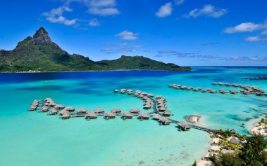 Four Seasons Bora Bora, un resort en un motu privado