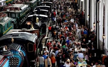 Mercado de Motores, pop-up market en el Museo del Tren