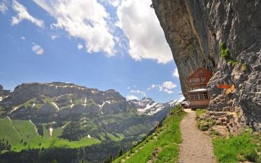 Aescher Restaurant, en lo alto de los Alpes Suizos