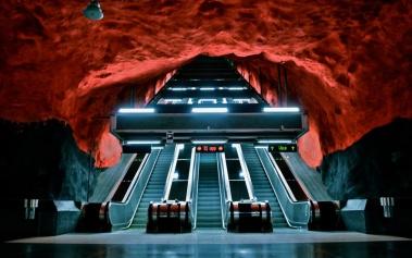 Metro de Estocolmo, una gigantesca galería de arte