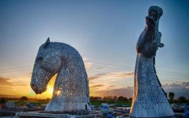The Kelpies, esculturas de 30 metros en Escocia