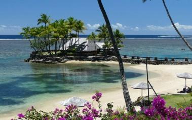 Playas Paradisiacas: Viti Levu, palmeras y arena blanca