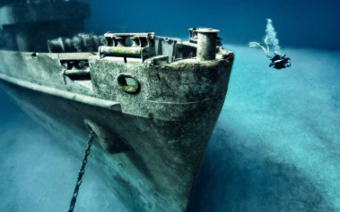 Barcos Hundidos: U.S.S. Kittiwake, a muy poca profundidad