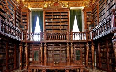 Bibliotecas Increibles: Biblioteca Joanina, una joya Barroca