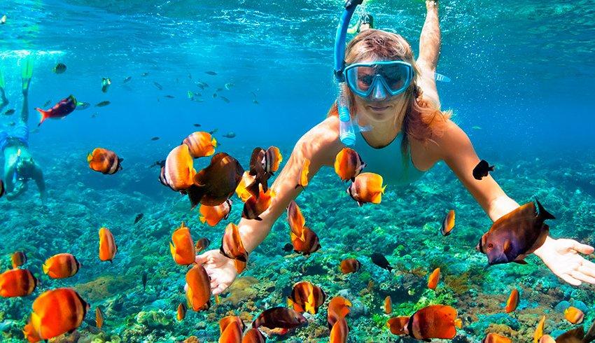 8 lugares para practicar snorkel que te encantarán
