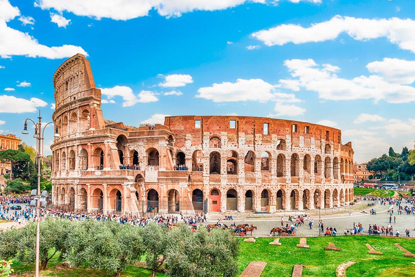 El Coliseo de Roma desde las alturas