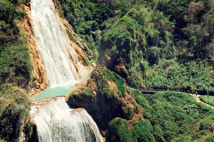 El Chiflón, una de las mejores cascadas de Chiapas