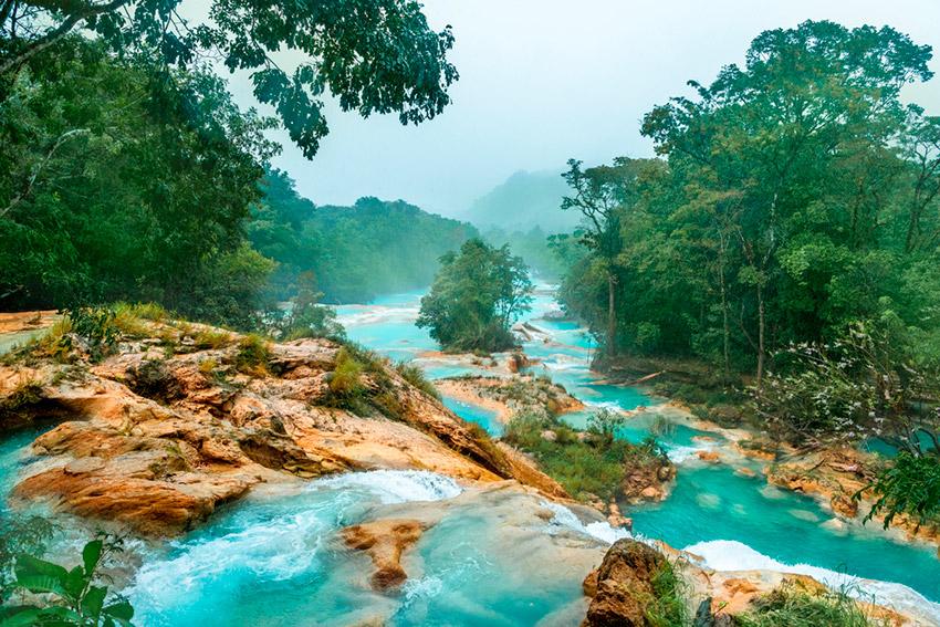 Agua Azul, una de las mejores cascadas de Chiapas