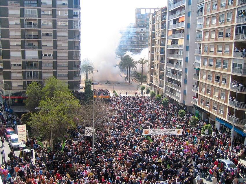 Alzira, uno de los lugares para celebrar las Fallas de Valencia