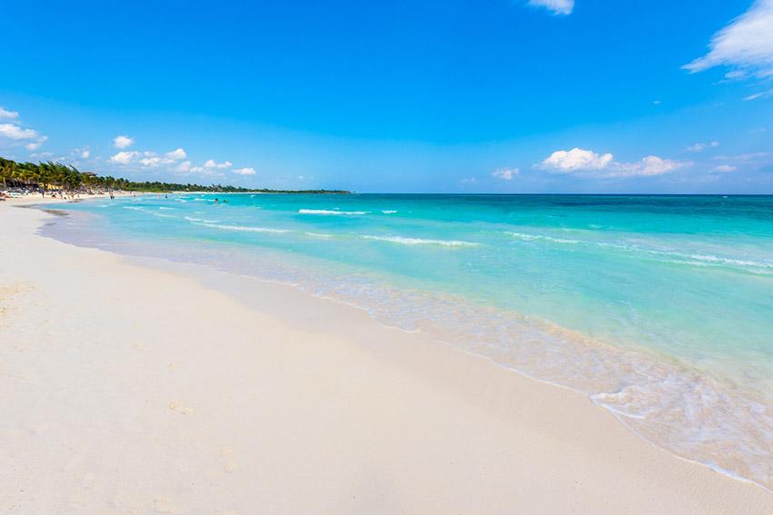 Xpu - Ha, una de las playas donde practicar yoga en México