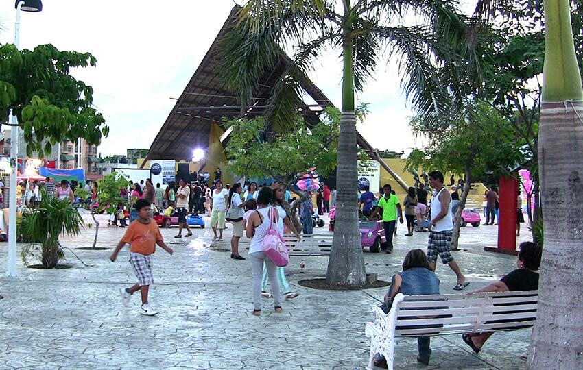 Parque de las Palapas, un lugar para un mochilero en Cancún