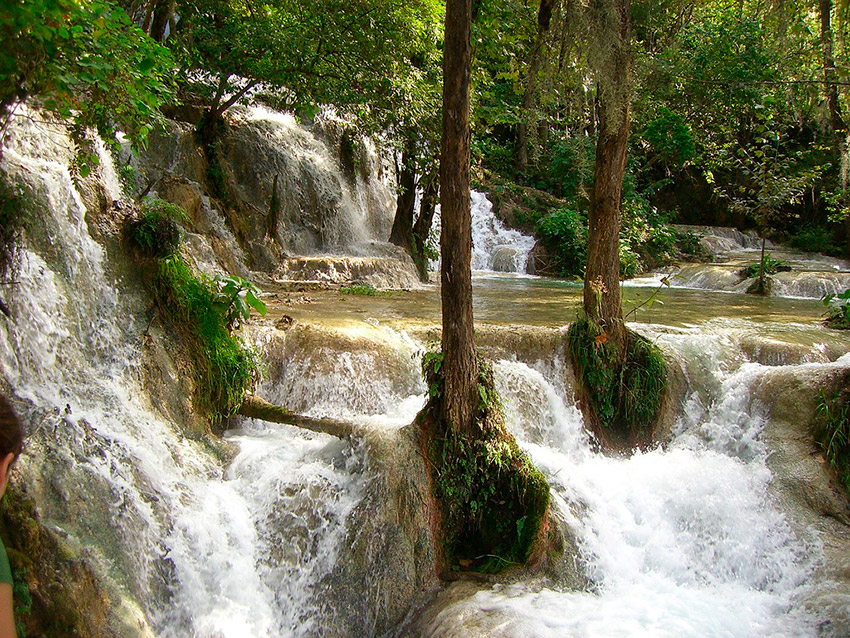 Cascada El Velo de la Novia, uno de los escenarios de la naturaleza salvaje en México