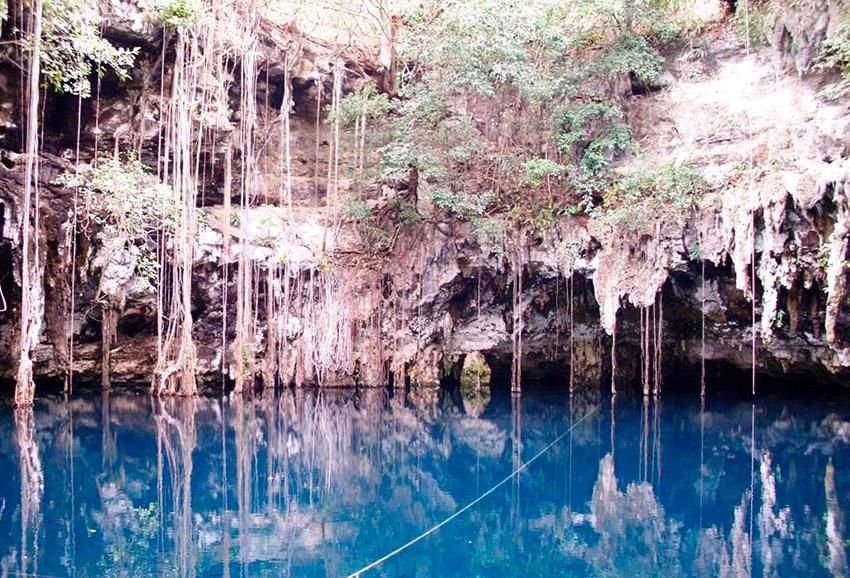 El Cenote Yokdzonot, uno de los Cenotes Ocultos en Yucatán