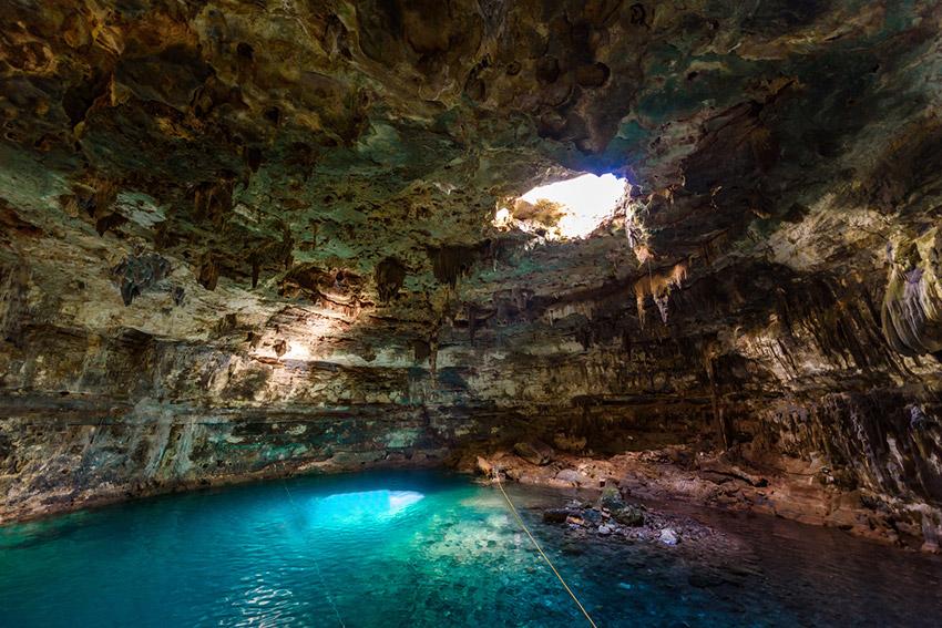 El Cenote Samulá, uno de los cenotes ocultos en Yucatán