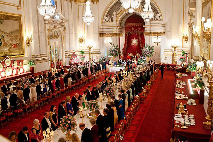 Salón de Baile, una de las cosas que visitar en el Palacio de Buckingham