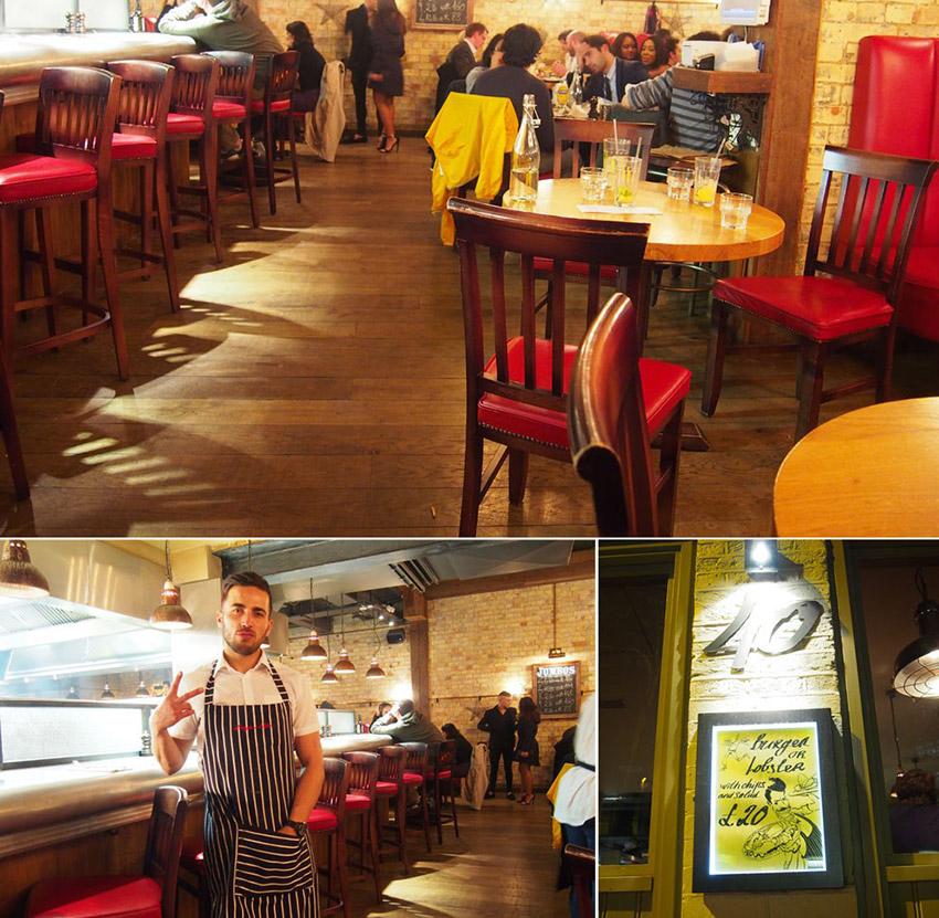 Burger & Lobster, uno de los restaurantes donde comer barato en Londres