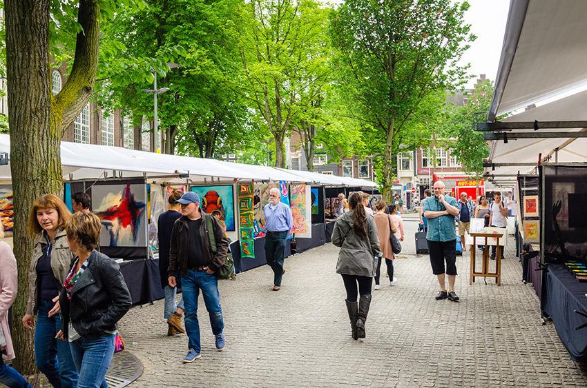 La Plaza Spui, uno de los sitios secretos en Ámsterdam