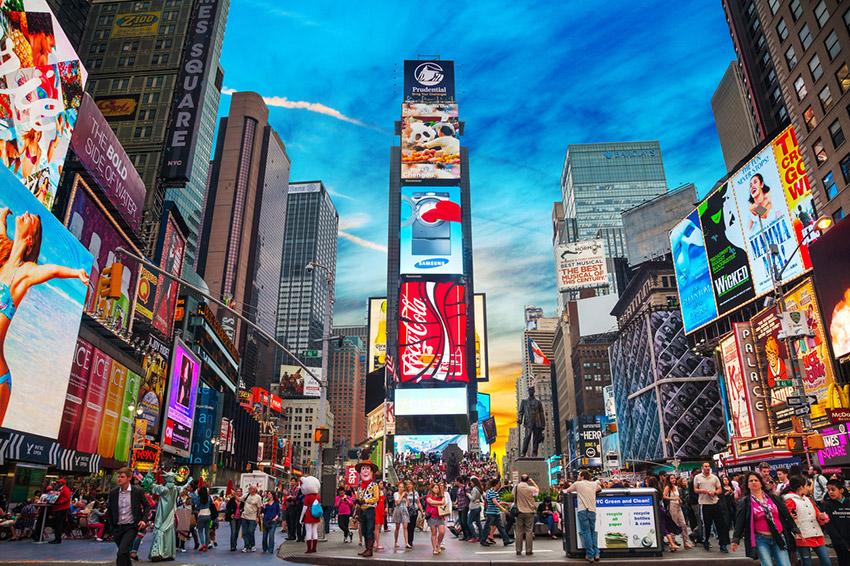 Times Square, uno de los lugares trampa para turistas
