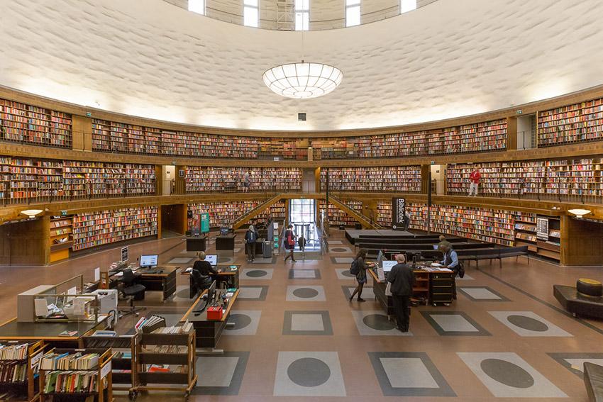 Bilioteca Pública de Estocolmo, una de las bibliotecas más bonitas del mundo