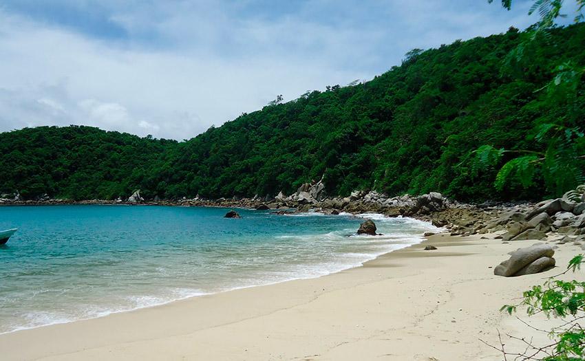 La Boquilla, una de las playas tranquilas en Oaxaca