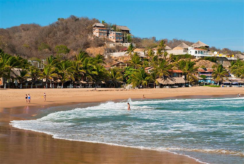 San Agustinillos, una de las playas tranquilas en Oaxaca