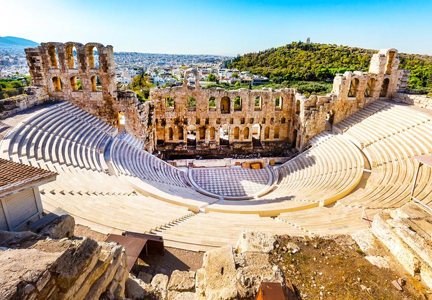Grecia, uno de los lugares para viajar con un bebé