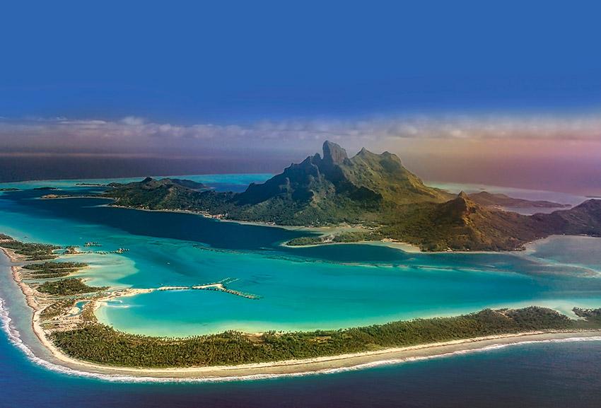 Isla Bora Bora, una de las playas paradisíacas del mundo