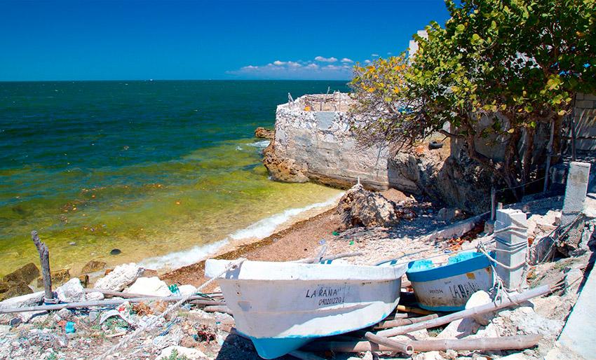 Lerma, una de las playas tranquilas en Campeche