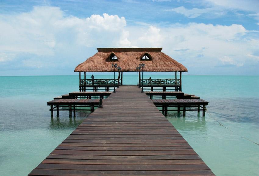 Isla Aguada, una de las playas tranquilas en Campeche