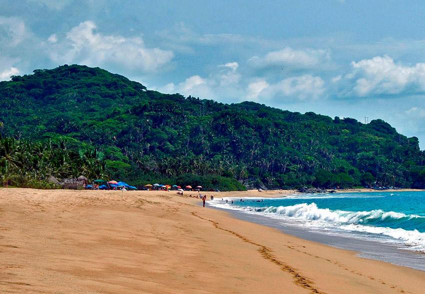 San Pancho, una de las playas tranquilas en Nayarit