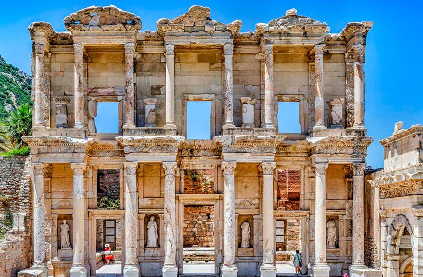 Ciudad de Efeso, uno de los lugares de las rutas de peregrinaje