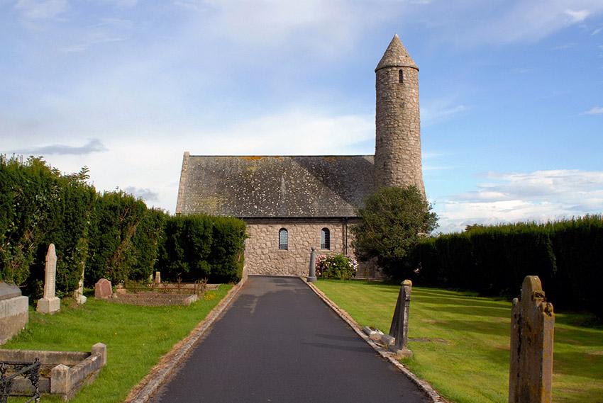 Iglesia de Saul, uno de los lugares de las rutas de peregrinaje en Irlanda