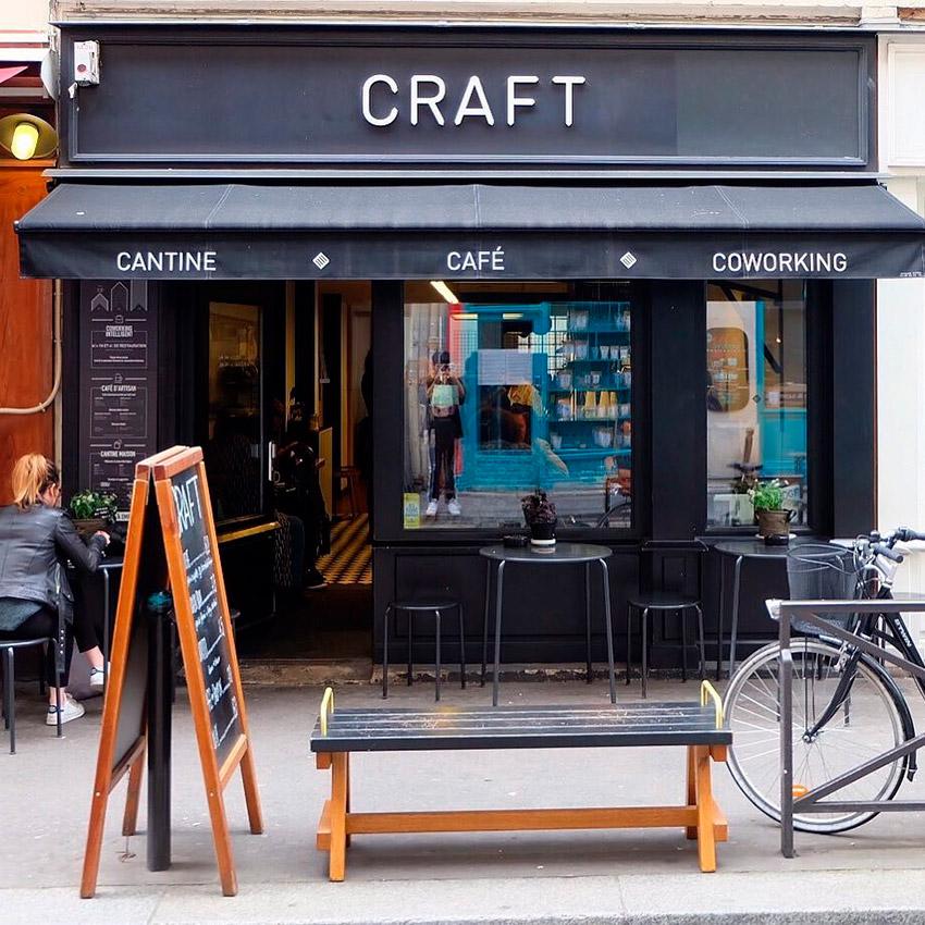 Café Craft, uno de los cafés de moda en París