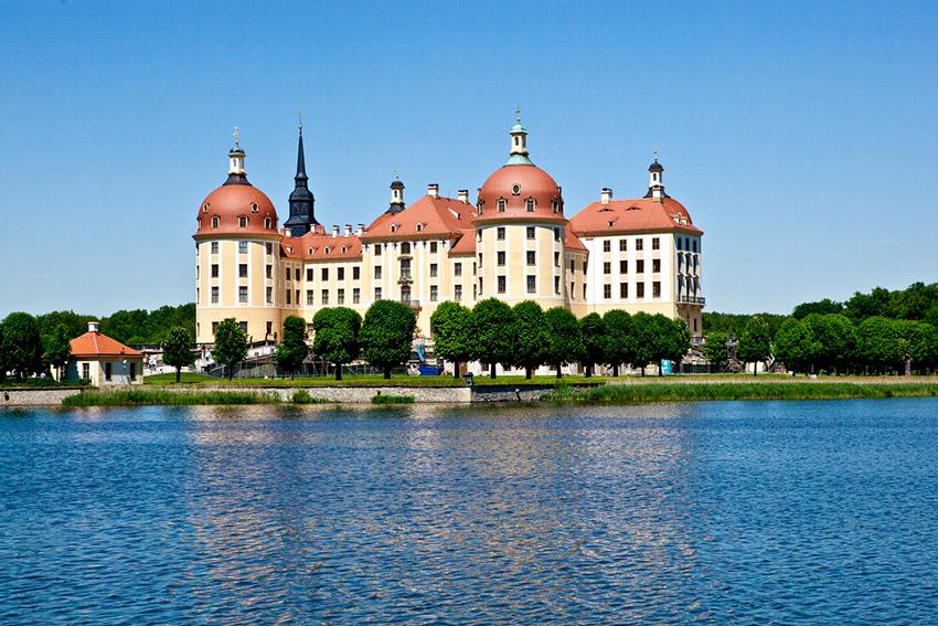 Castillo de Moritzburg, uno de los castillos de cuento en Alemania