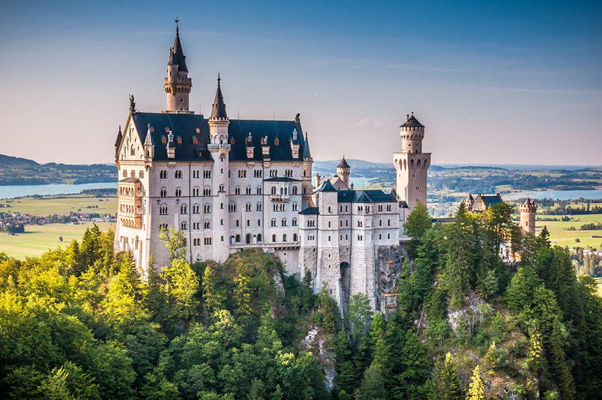 Castillo de Neuschwanstein, uno de los castillos de cuento en Alemania