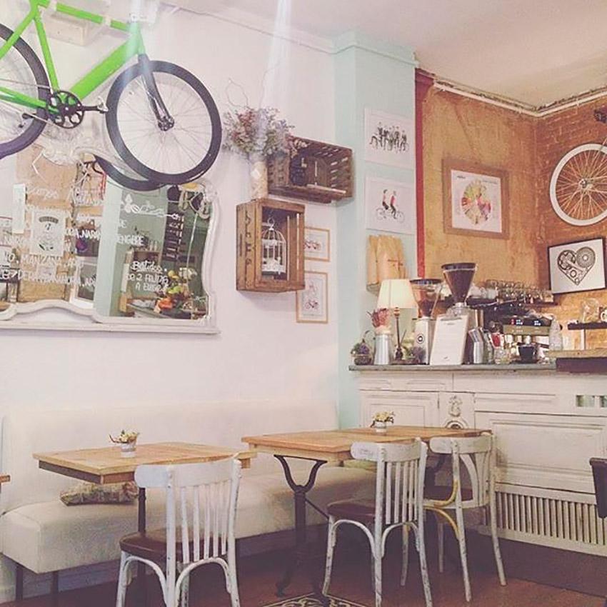 Bicioci Bike Café, uno de los cafés de moda en Barcelona