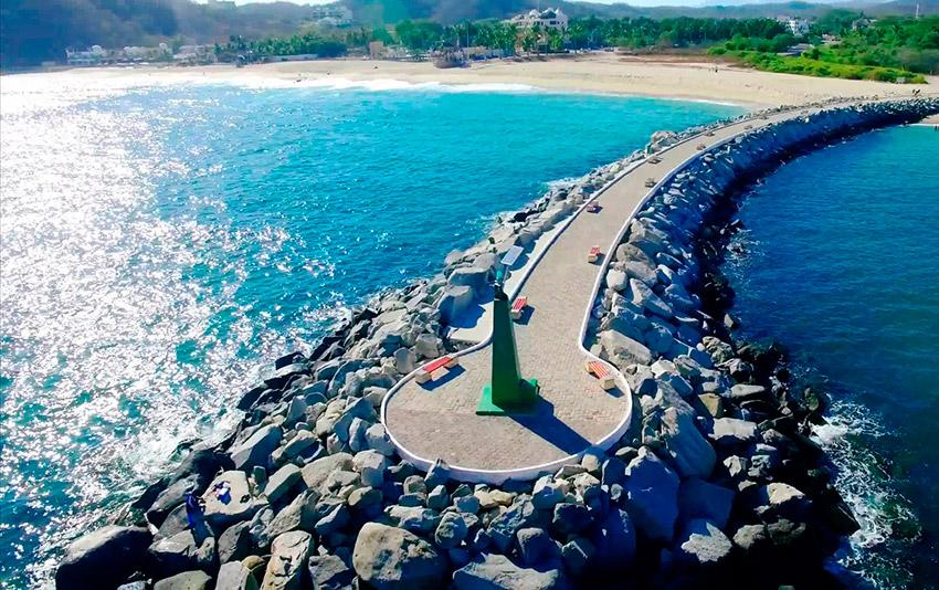 Bahía de Chahué, una de las mejores bahías de Oaxaca