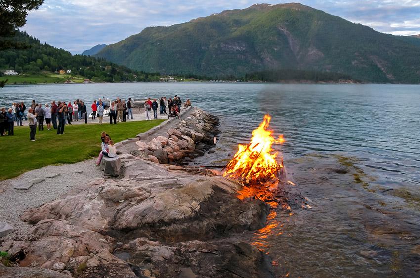 Jonsok en Noruega, uno de los lugares en el que se celebra San Juan en Europa