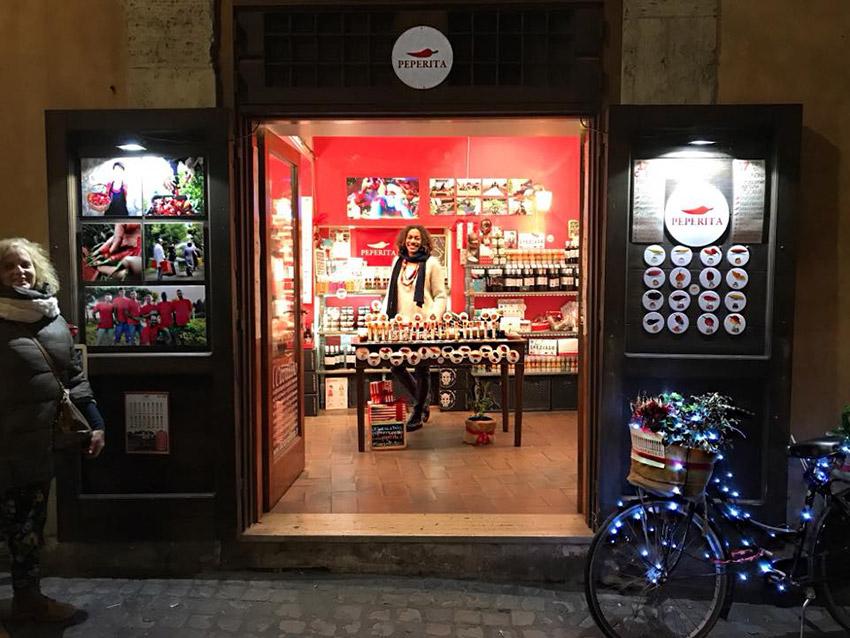 Peperita, una de las tiendas de la ruta vegana en Roma