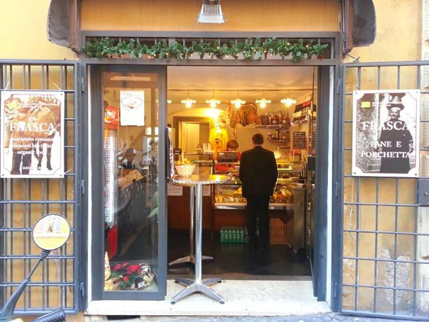 Alla Frasca, una de las tiendas de la ruta vegana en Roma