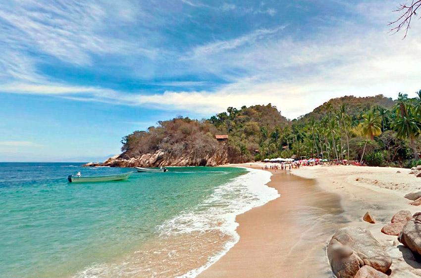 Playa Majahuitas, una de las playas tranquilas en Puerto Vallarta