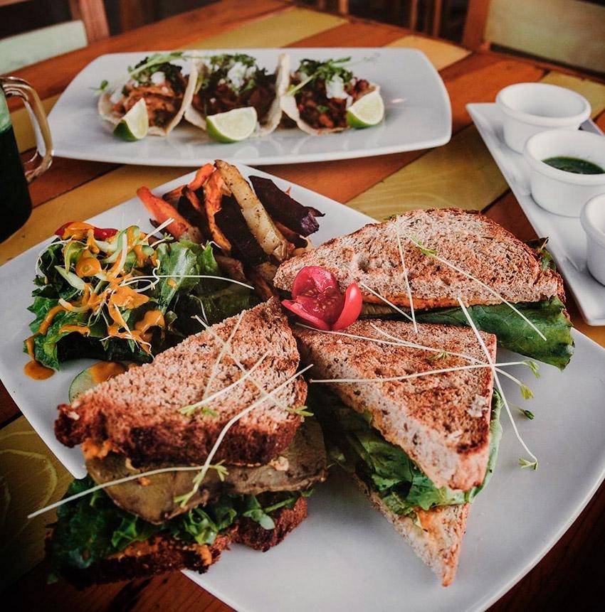 Clorofila, uno de los restaurantes de la ruta vegana en Playa del Carmen