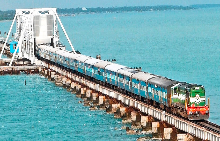 Ferrocarril Rameswaram - Chennai, uno de los trenes más peligrosos del mundo