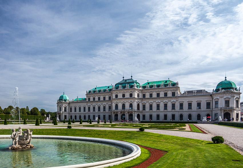 Palacio de Belvedere, una de las cosas qué ver en Viena
