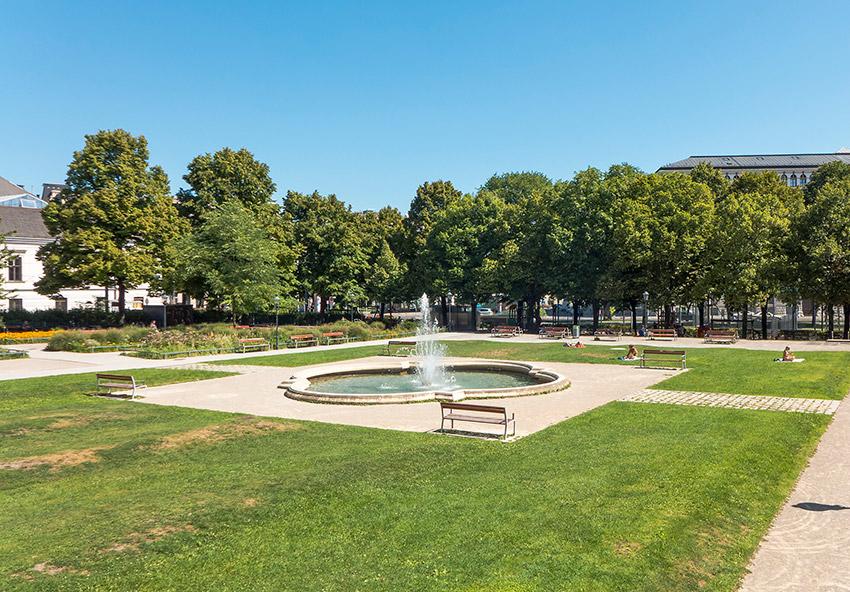 Parque Weghuberpark, una de las cosas qué ver en Viena